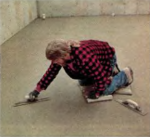 Затирка бетонной плиты