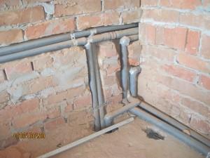 Разводка труб системы отопления