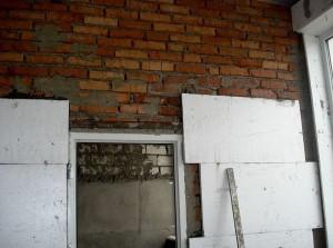 Утепление стен пенопластом  с внутренней стороны