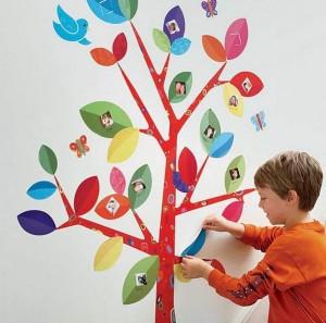 Дизайн стен в детской комнате самостоятельно