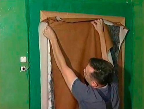 Как сделать обшивку дверей своими руками