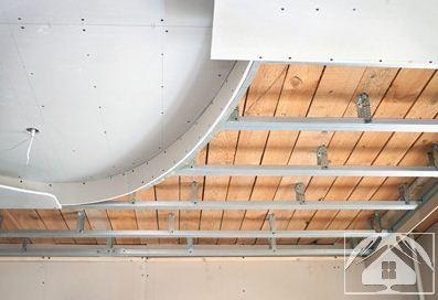 Потолок из панелей двухуровневый своими руками