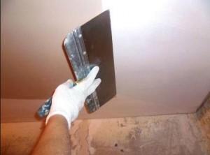 Шпатлевка потолка самостоятельно