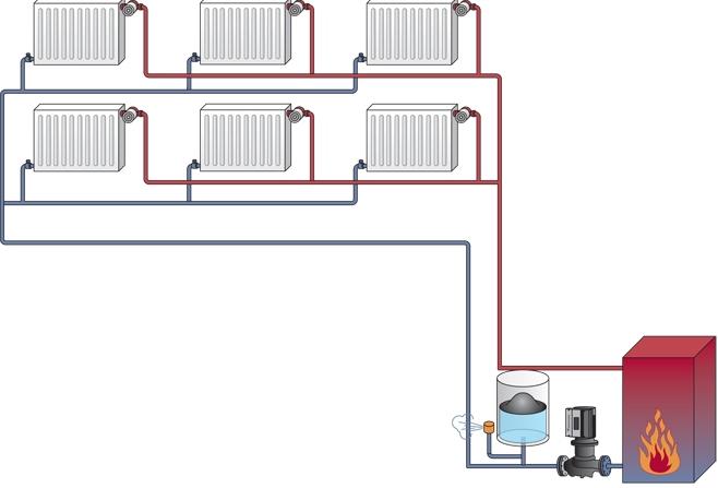 Отопление частного дома своими руками: схемы. - m 59