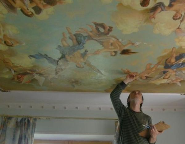 Как расписать потолок