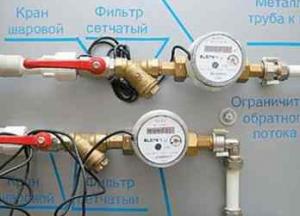 Монтаж счетчика воды