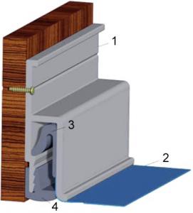 Монтаж профиля к потолку и стене