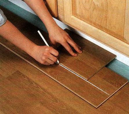 Как постелить ламинат своими руками по диагонали 76