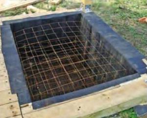 Армировка фундамента под мангал