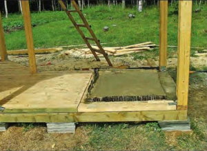 Заливка фундамента под мангал