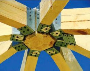 Центральный замок стропильной системы, вид снизу
