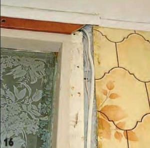 Прокладка кабеля под дверной коробкой