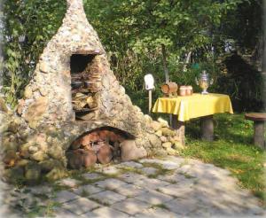 Садовая печь для барбекю