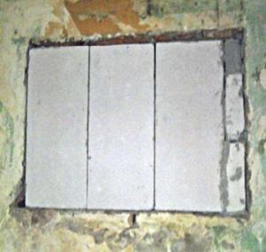 Закладка оконного проема газоблоками
