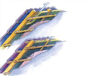 Укрытая и вентилируемая система гидроизоляции